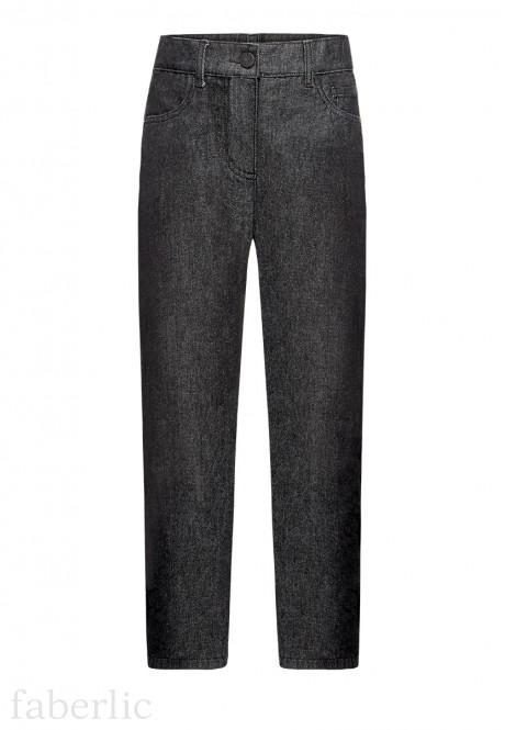 167B3101 Siltinātas džinsa bikses zēnam melnā krāsā