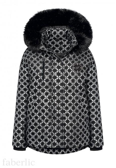 Утепленная куртка цвет черный