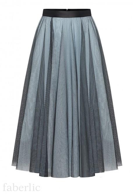Многослойная юбка цвет сероголубой