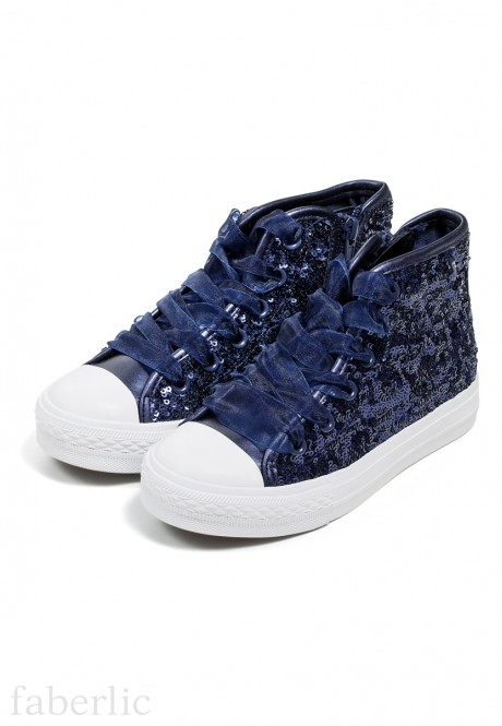 Girls Glossy Sneakers blue