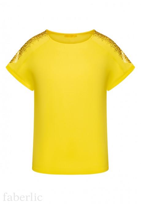 Футболка с принтом цвет желтый