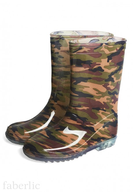 Boys Military Wellington Boots