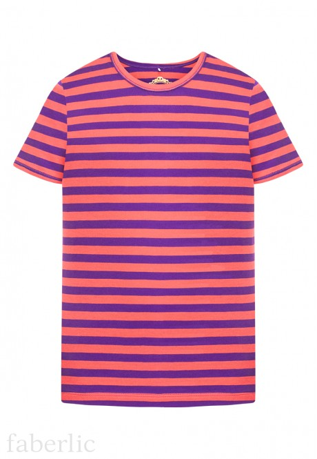 Girls Striped Tshirt purple
