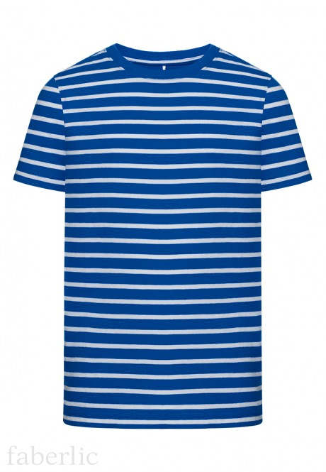 Boys Striped Tshirt bright blue