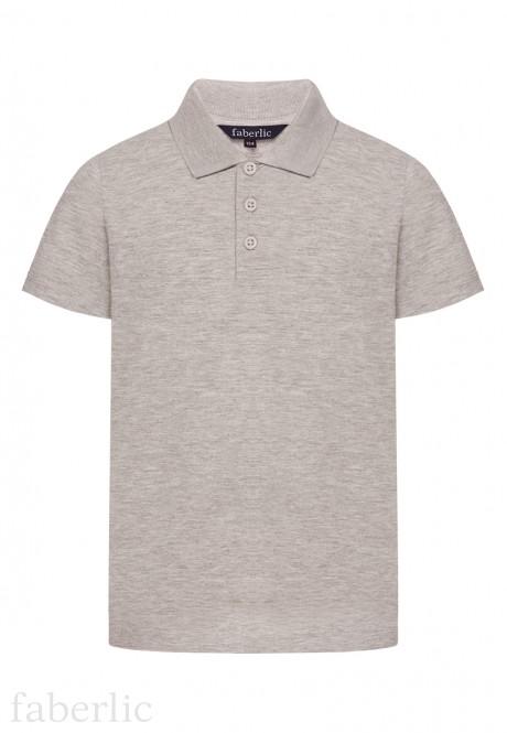 Boys Polo Shirt light grey melange