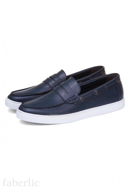 Mens Marco Mocassins blue