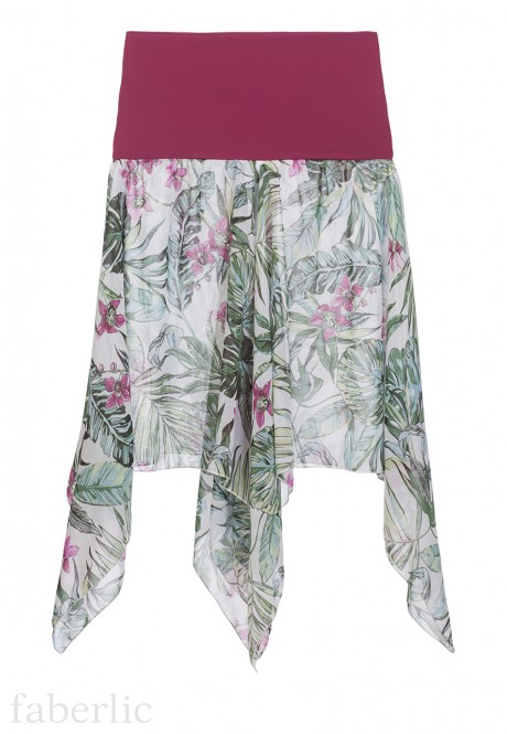 Transformer Beach Skirt tropic print