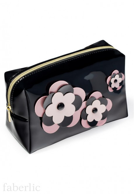 Flowers Cosmetic Bag large