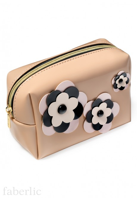 Flowers Cosmetic Bag small