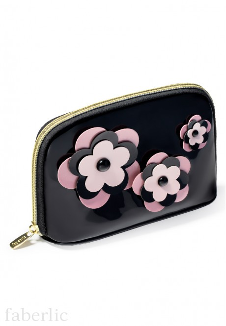 Flowers Cosmetic Bag medium