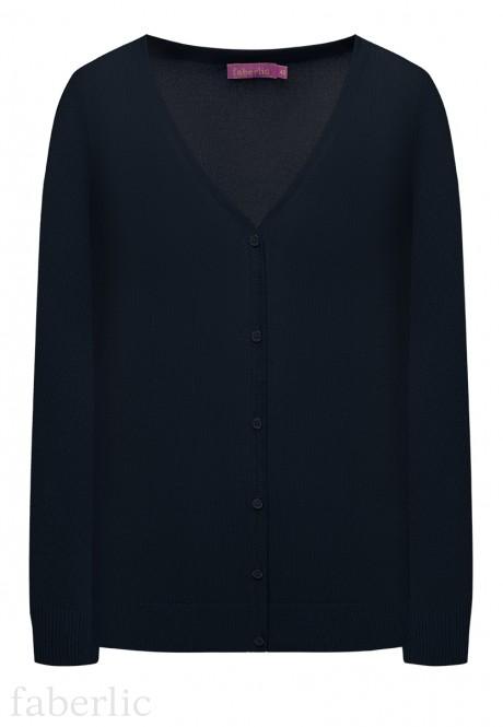 Knit Cardigan dark blue