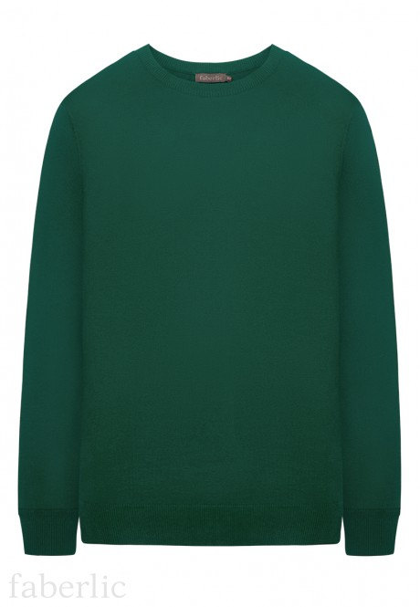 Mens Knit Jumper dark green