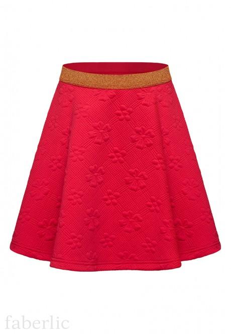 Girls Quilted Skirt raspberry