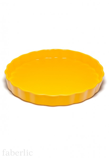 Pie Dish yellow