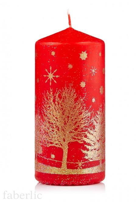 Dekoratīvā svece sarkanā krāsā