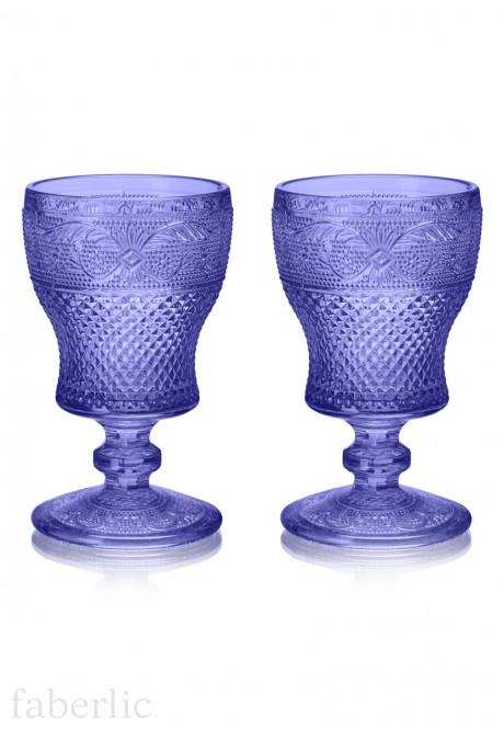 Набор из двух бокалов цвет сапфир