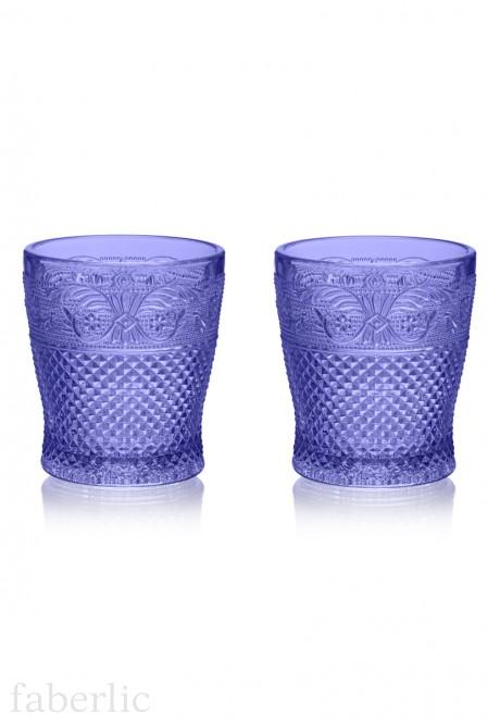 Glasses 2 pcs set sapphire