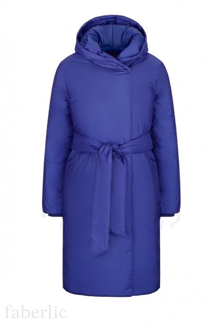 Insulated Tie Waist Coat blue