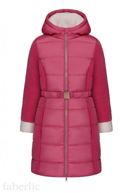 Girls Insulated Coat red berry