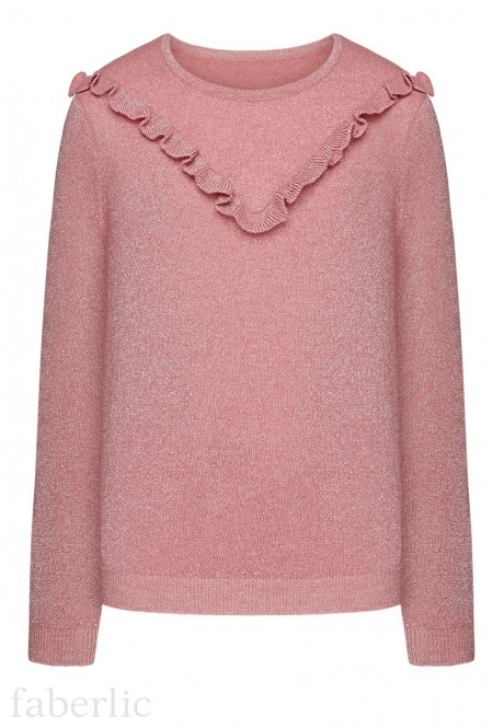 Girls Knit Lurex Jumper pink