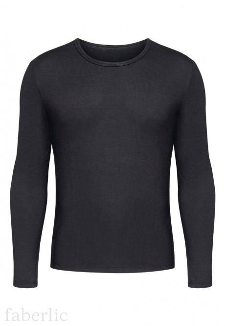 Mens Long Sleeve Thermal Top black