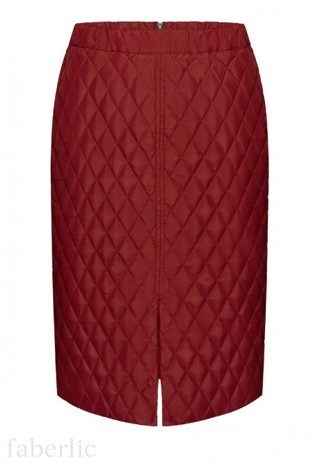 Insulated Quilted Skirt dark red