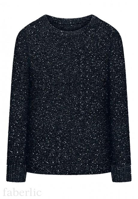 Lurex  Paillette Jumper dark blue