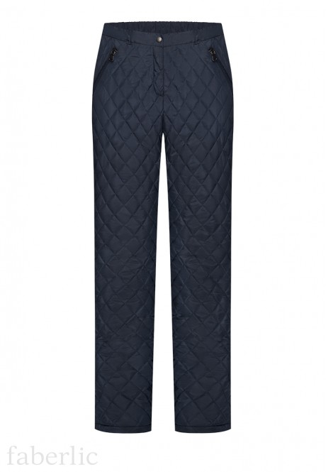 Insulated Quilted Trousers dark blue