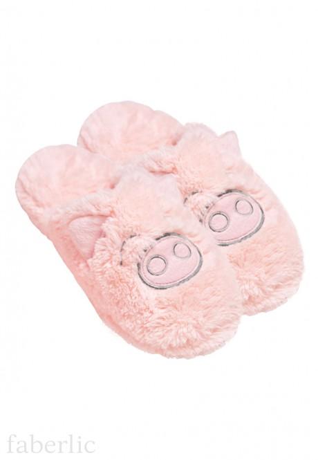 Тапочки женские Свинка цвет светлорозовый