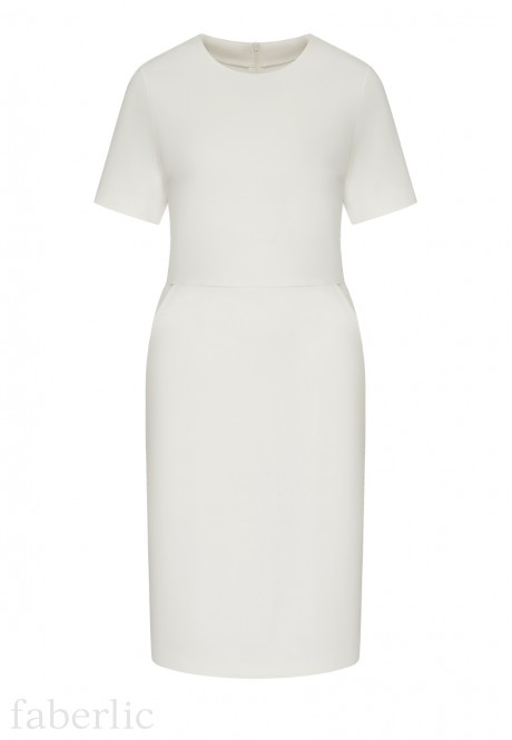 Short Sleeve Jersey Dress white