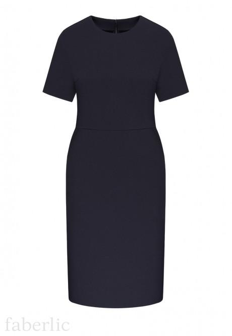 Short Sleeve Jersey Dress dark blue
