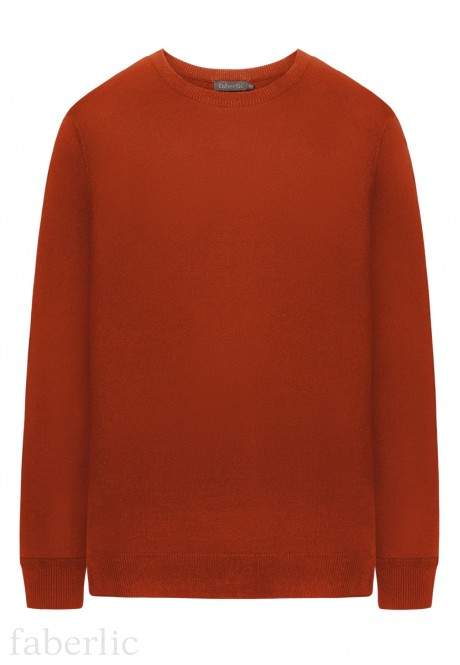 Mens Long Sleeve Jumper red