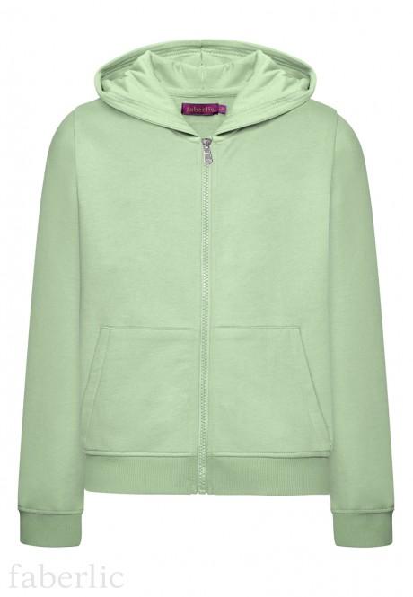 Long Sleeve Hoodie for girls mint