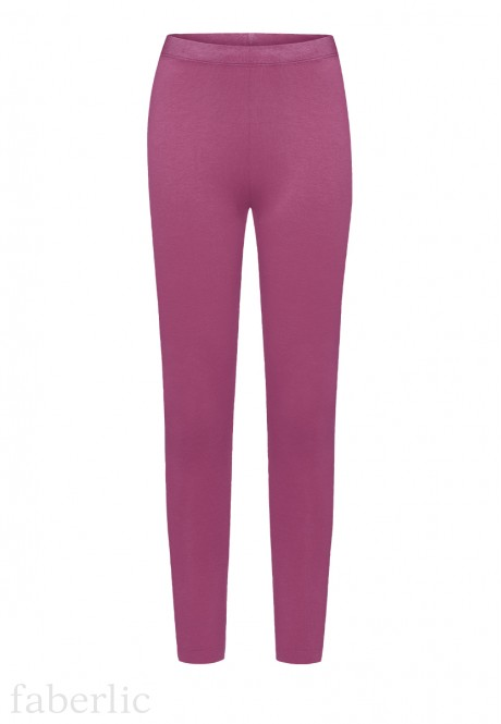 Girls Jersey Leggings dark lilac