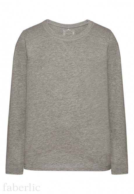 Boys Long Sleeve Tshirt grey melange