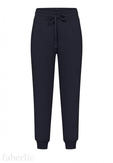 Трикотажные брюки для мальчика цвет тёмносиний