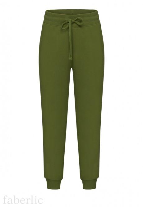 Трикотажные брюки для мальчика цвет тёмнозелёный
