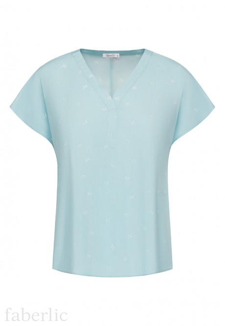 Short Sleeve Blouse blue