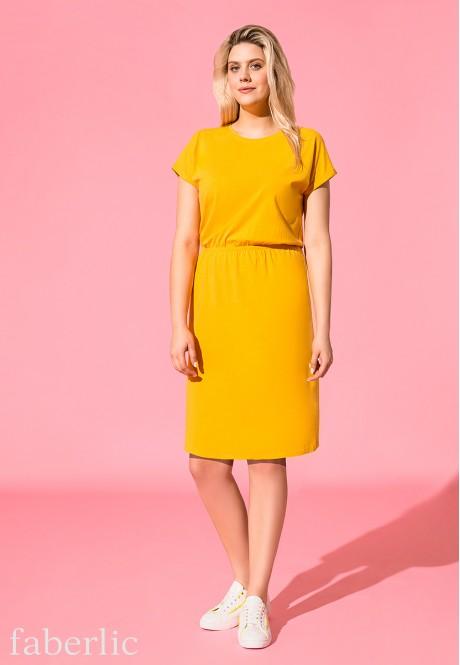 514caaf5b3d4 Трикотажное платье, цвет жёлтый 522424 - 522432 купить по цене 1199 ...