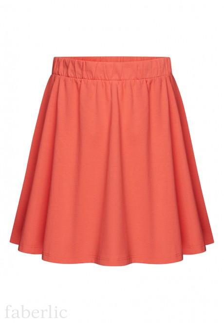 Girls Jersey Skirt coral