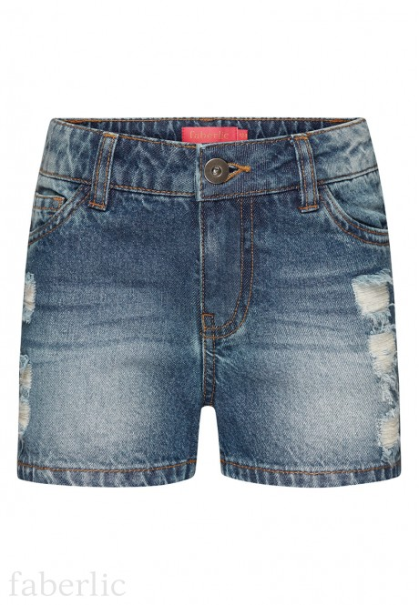 Girls Denim Shorts blue