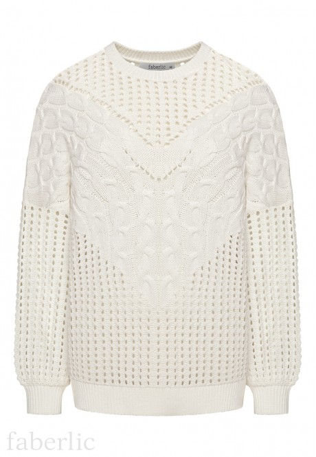 Long Sleeve Knit Jumper white