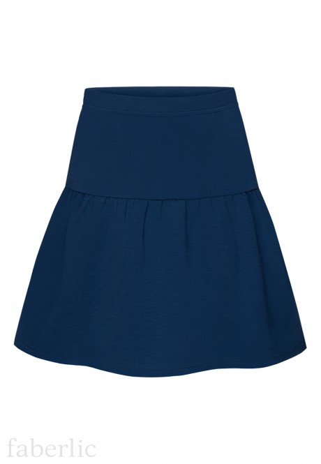 Girls Jersey Skirt dark blue