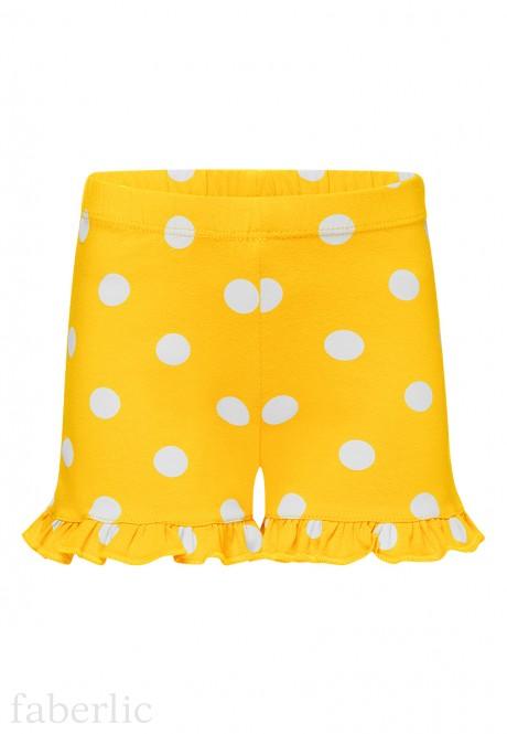 Шорты для девочки цвет жёлтый