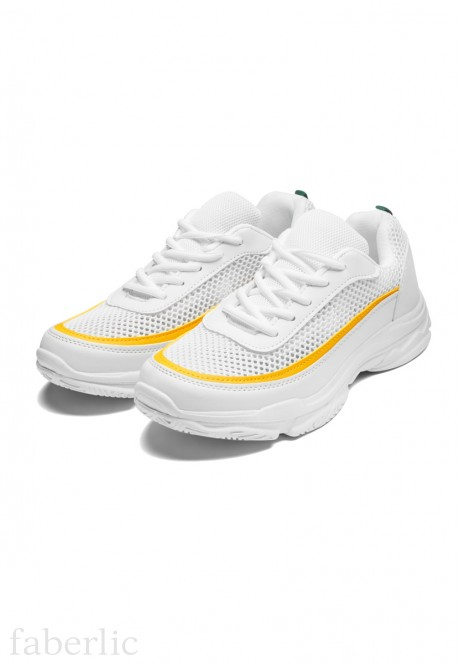 Line Sneakers whiteyellow