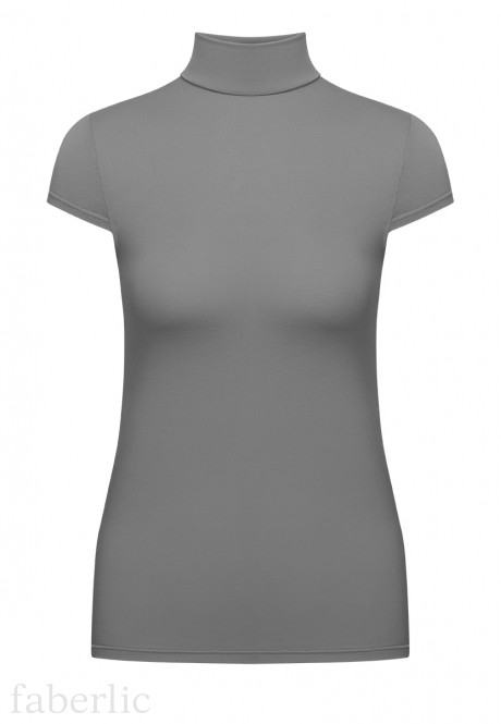 Short Sleeve Turtleneck grey
