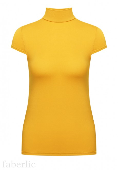 Short Sleeve Turtleneck yellow