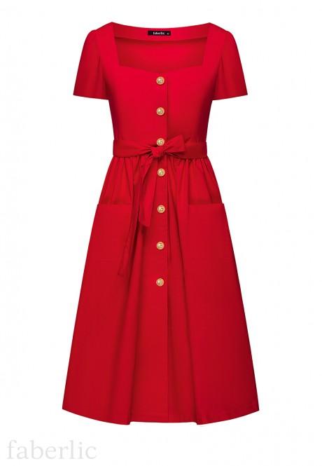 Short Sleeve Dress red
