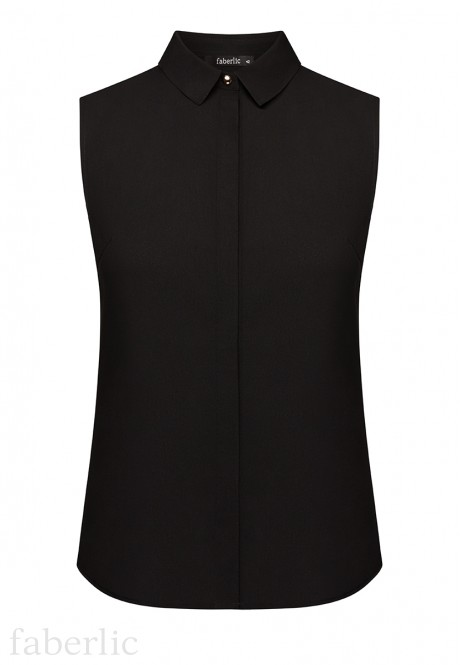 Sleeveless Blouse black