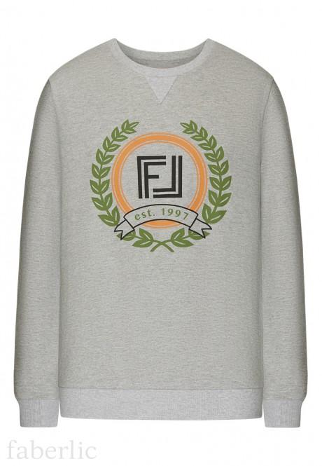 Long Sleeve Jersey Jumper light grey melange